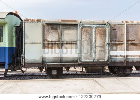 Between Bogie Of A Public Thai Train Railway