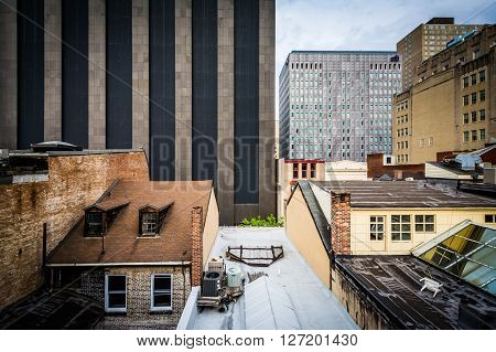 View Of Buildings In Downtown Baltimore, Maryland.
