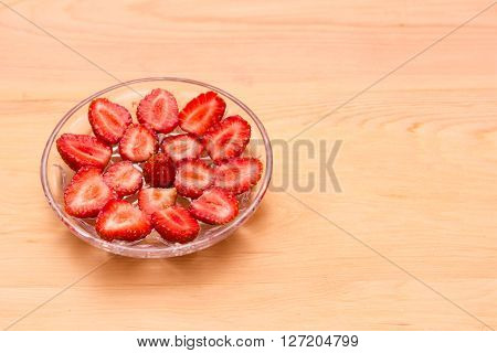 Pattern Of Ripe Strawberries On A Plate Crystal