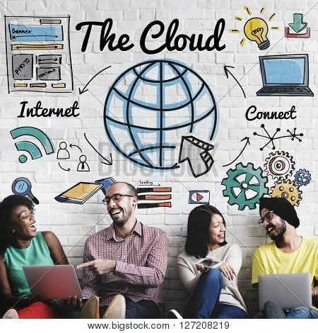 The Cloud Storage Technology Web Online Concept