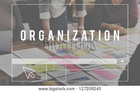 Oganization Corporate Management Planning Concept