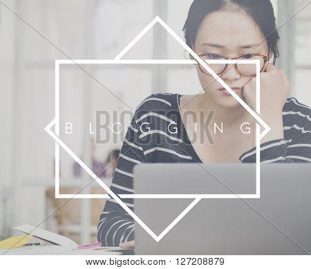 Blogging Social Media Network Online Opinion Concept