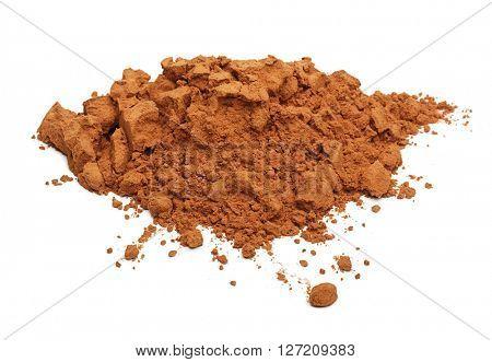 Cacao powder isolated on white background