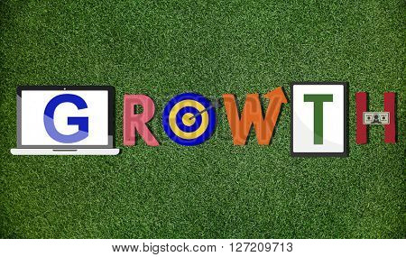 Growth Progress Success Achievement Concept
