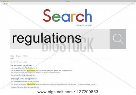 Regulations Law Legal Rules Condition Instruction Concept