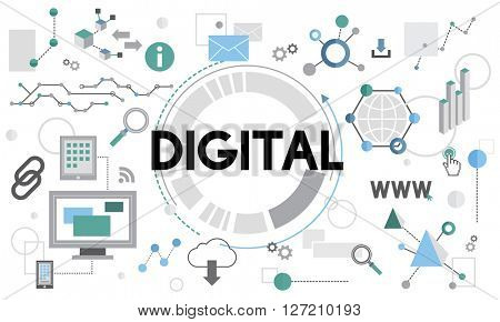 Digital Connection Technology Networking Electronic Concept