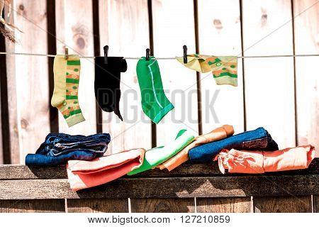 Socks On The Clotheline