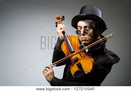 Man in musical art concept