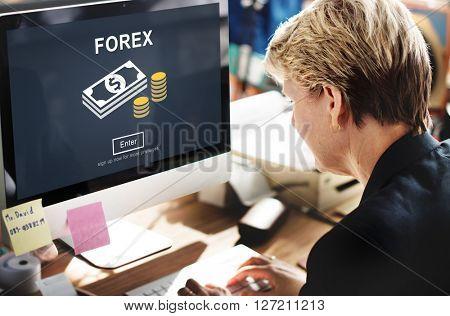 FOREX Banking Stock Market Finance Online Website Concept