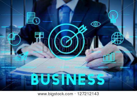 Business Commercial Corporate Enterprise Growth Concept