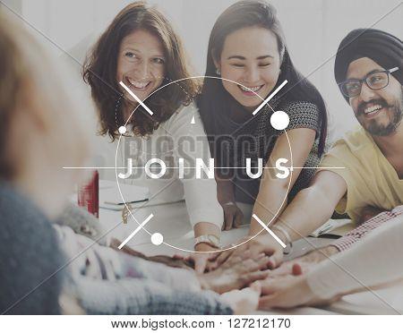 Join Us Membership Recruit Register Concept