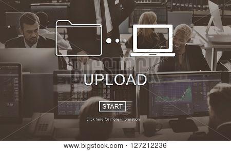 Upload Downloading Transfer Sharing Concept