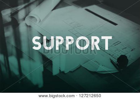 Support Satisfaction Service Helpful Motivation Concept