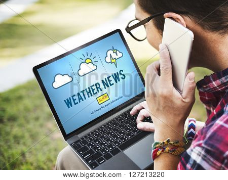 Weather News Information Reporter Concept