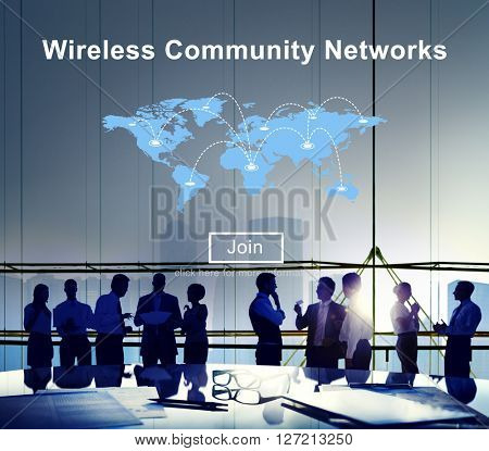 Wireless Community Networks Internet Sharing Concept