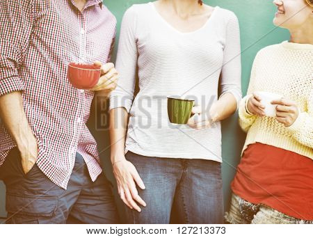 Group People Chatting Interaction Socializing Concept