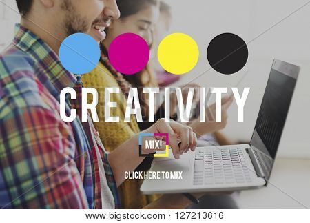 Creativity Color Imagination Creating Process Concept