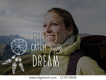Catch Dream Believe Aspiration Motivation Concept