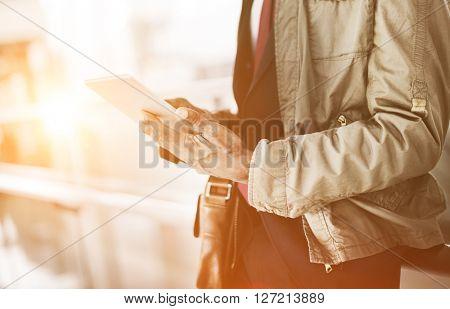 Journalist Businessman Travel Commuter Technology Concept