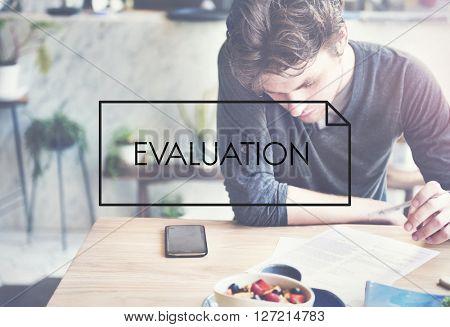 Evaluation Assessment Examination Survey Concept
