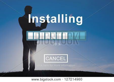 Installing Loading Progress Indicator Concept