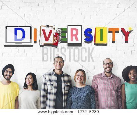 Diversity Different Ethnicity Race Global Concept