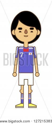 Football team sport soccer player vector man illustration. Football team men league and soccer play action football team player. Football european team player in uniform vector. Soccer player