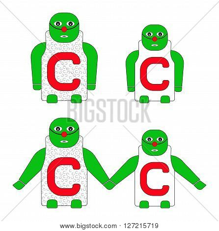 ALPHABETICAL CHILD'S NAME C. CAPITAL and SMALL LETTER C.