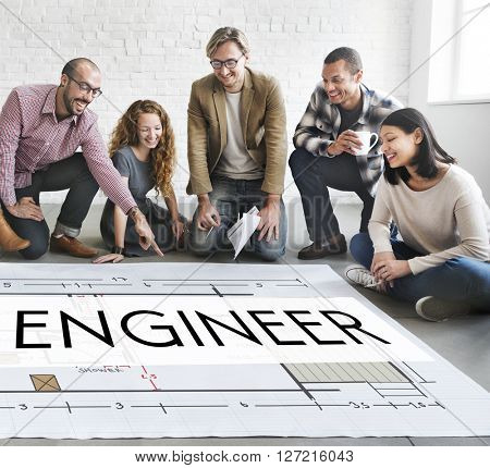 Engine Engineer Engineering Machine Occupation Concept