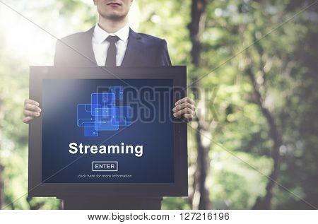 Streaming Internet Computer Media Transfer Data Concept