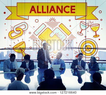 Alliance Team Together Collaboration Partnership Concept