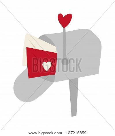 Post office box corner letter communication street mailbox correspondence service delivery vector illustration. Letter communication street mailbox and delivery street mailbox. Street mailbox.