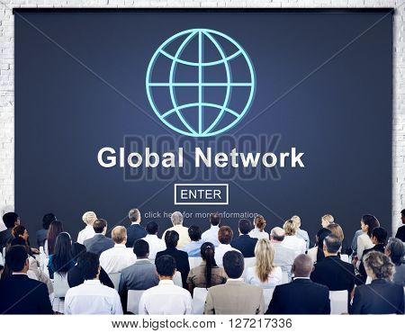 Global Network Connection Social Network Technology Internet Concept