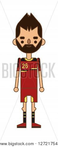 Football Italy team sport soccer player vector man illustration. Football team men league and soccer play action football team player. Football european team player in uniform vector. Soccer player