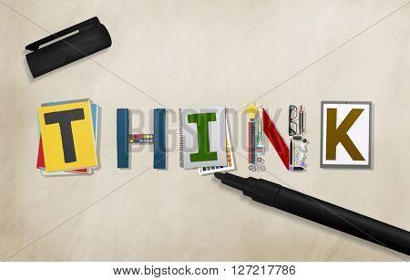 Think Thinking Ideas Skill Start up Concept