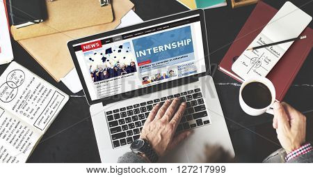 Internship Skills Temporary Management Trainee Concept