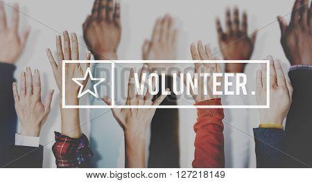 Volunteer Diverse People Community Concept