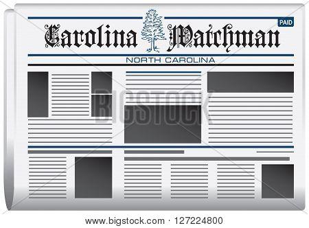 Abstract newspaper in state of North Carolina Carolina watchman newspaper