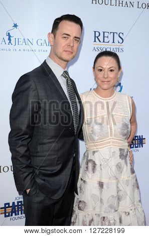 LAS VEGAS - APR 20:  Colin Hanks, Samantha Bryant at the Norma Jean Gala benefitting Hollygrove at the Taglyan Complex on April 20, 2016 in Los Angeles, CA
