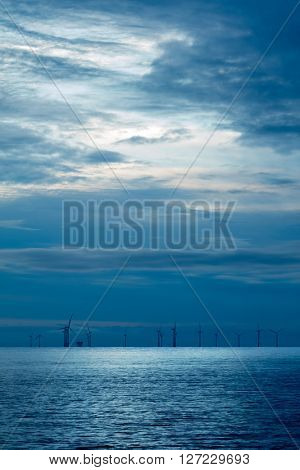 Offshore wind farm early morning