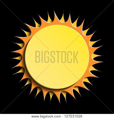 Sun on black background Sun Icon. Sun Icon Vector. Sun Icon Art. Sun Icon Image. Sun Icon logo. Sun Icon Sign. Sun Icon shadow. Sun icon app. Sun icon web. Sun icon Drawing