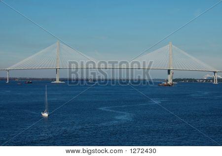 Cooper River Bridge In Charleston, Sc