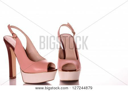 High Heels with peep toe and ankle-strap
