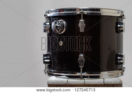 Black Drum tom-tom  isolated on white background