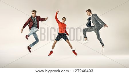 Fashionable sporty men