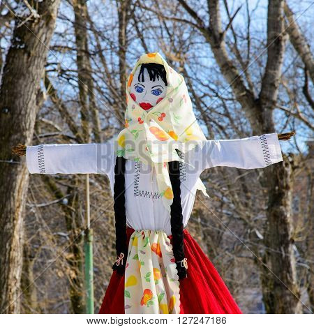 Maslenitsa - Russian religious holiday. sunny day