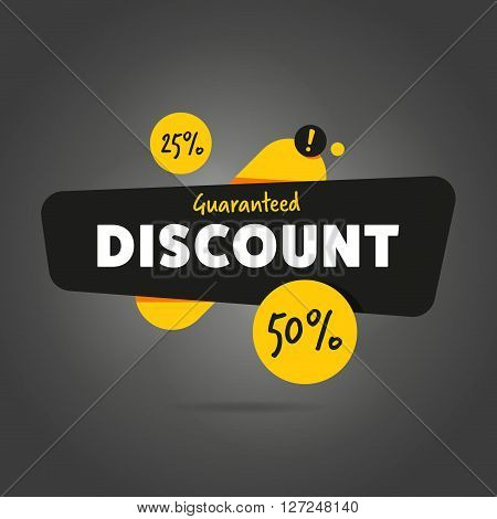 Discount sticker. Offer sticker. Discount label. Special discount vector label. Sale sign. Discount element template. Special offer sticker. Promo sticker. Discount icon. Discount vector banner. Sale. Design of ad offer. Discount tag. Isolated sticker.