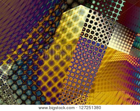 Fractal digital art background for design. Abstract decorative collage background.