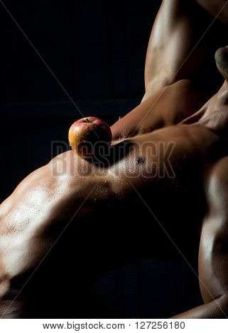 Apple On Male Torso