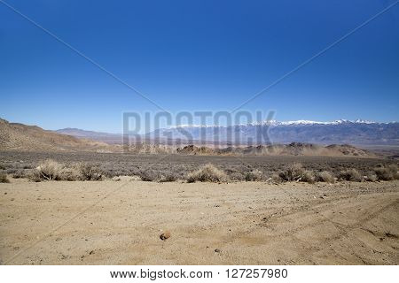A view of the High Sierra's near Bishop in California